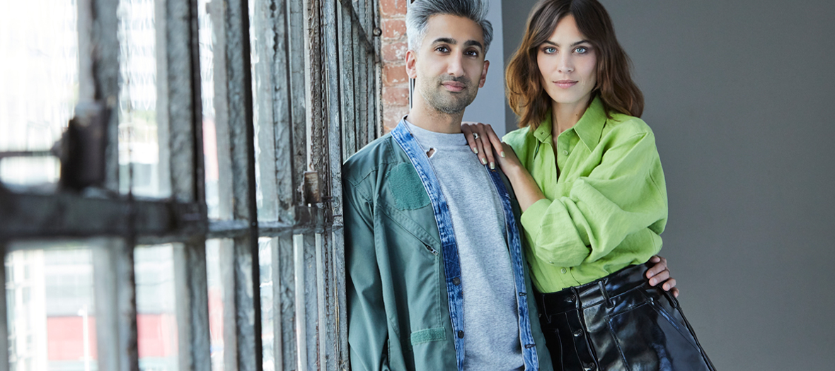 Portrait de Tan France et Alexa Chung animateur de la serie Next In Fashion