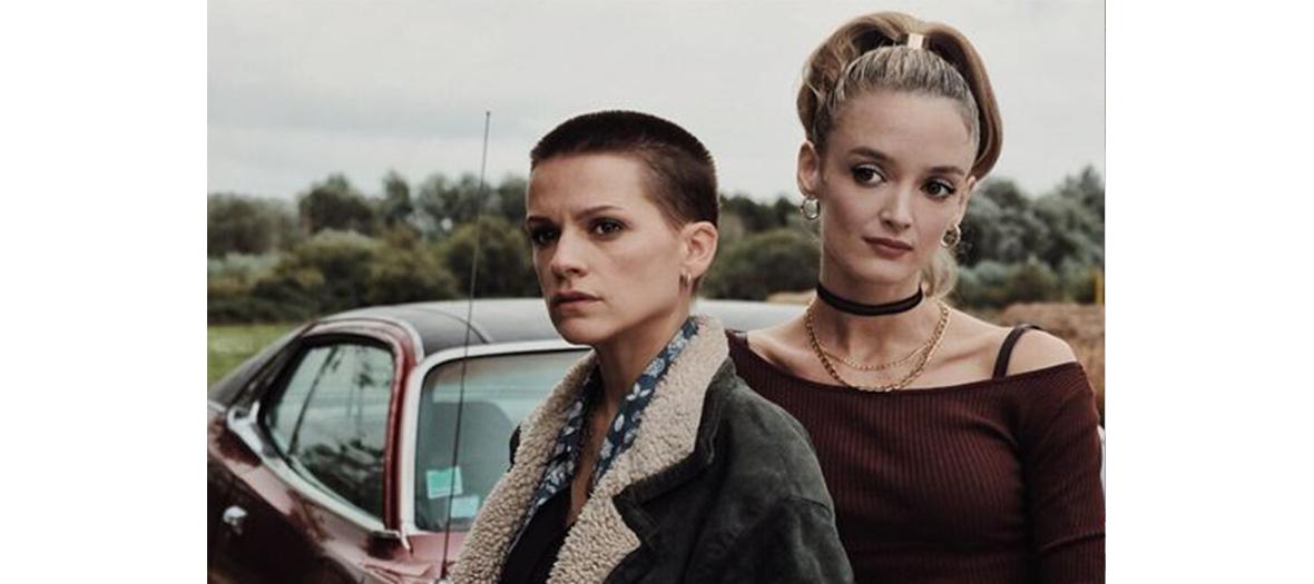 Portrait de Veerle Baetens et Charlotte le Bon actrice de la serie Cheyenne et Lola