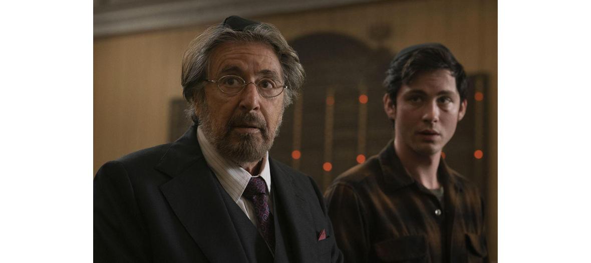 Portrait Al Pacino et Logan Lerman acteurs de la serie Hunters