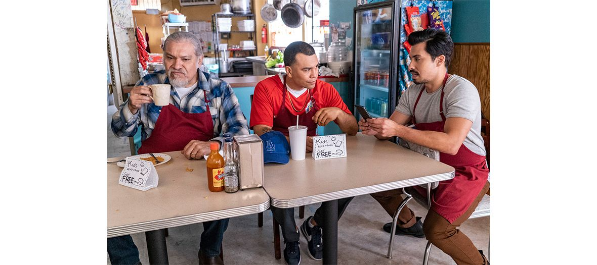 Joaquin Cosio, Joseph Julian Soria et Carlos Santos acteurs de la serie Gentefied