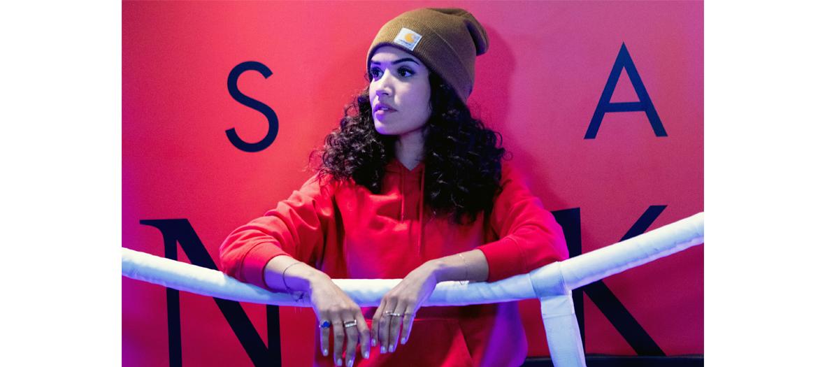 Sabrina Ouazani dans la série Validé