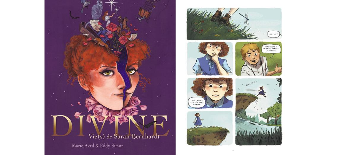 BD divines vies de Sarah Bernhardt, Marie Avril et Eddy Simon
