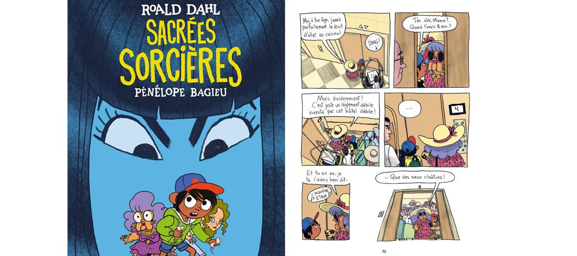 La BD  Sacrées sorcières de Pénélope Bagieu et Roald Dahl