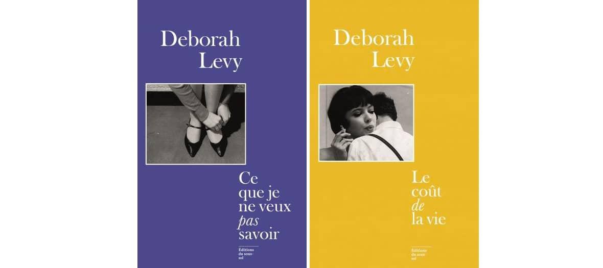 Livre Ce que je ne veux pas savoir et Le coût de la vie de Deborah Levy aux éditions Le sous-sol