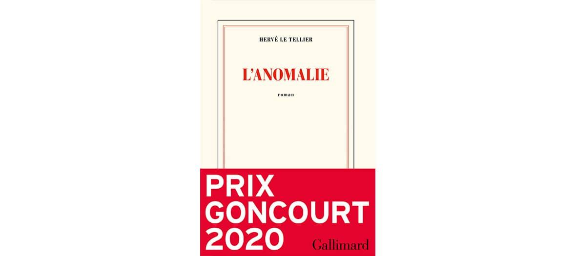 Couverture du livre L'anomalie de Hervé le Tellier aux éditions Gallimard
