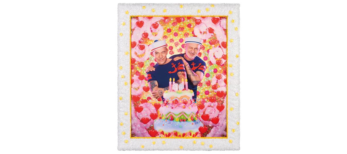 Portrait de Pierre et Gilles à l'exposition Coeur au musée de la vie romantique à Paris