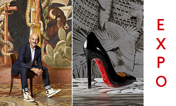Portrait of Christian Louboutin at the Palais de la Porte Dorée
