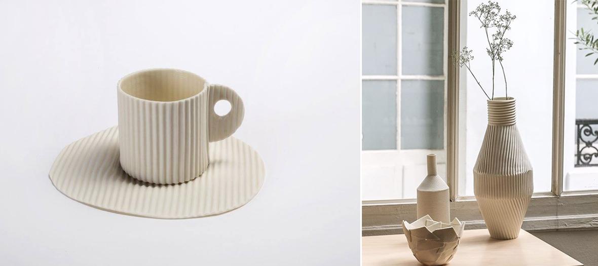 tasses, Vases et vaisselle en céramique Fanny Laugier, Paola Paronetto