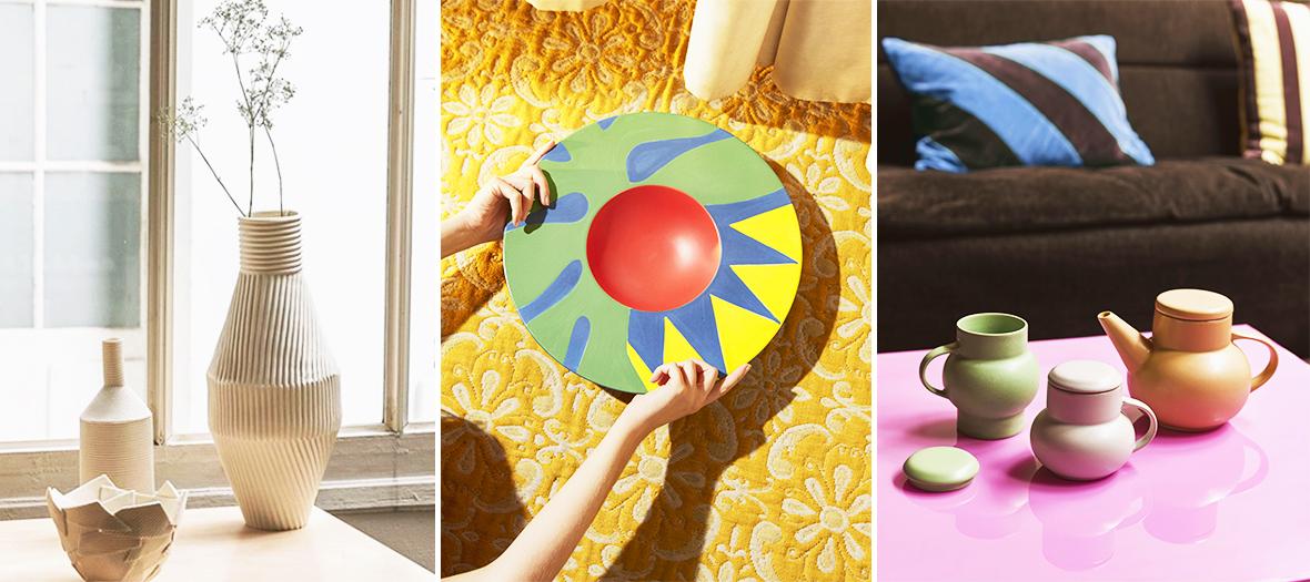 vase et vaisselles eb ceramiques imprimés Les Obssessions Deco 2020