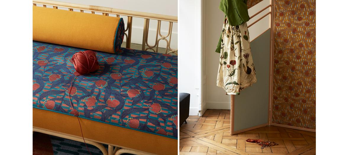 Intérieur aux aubergine de la Maison Matisse