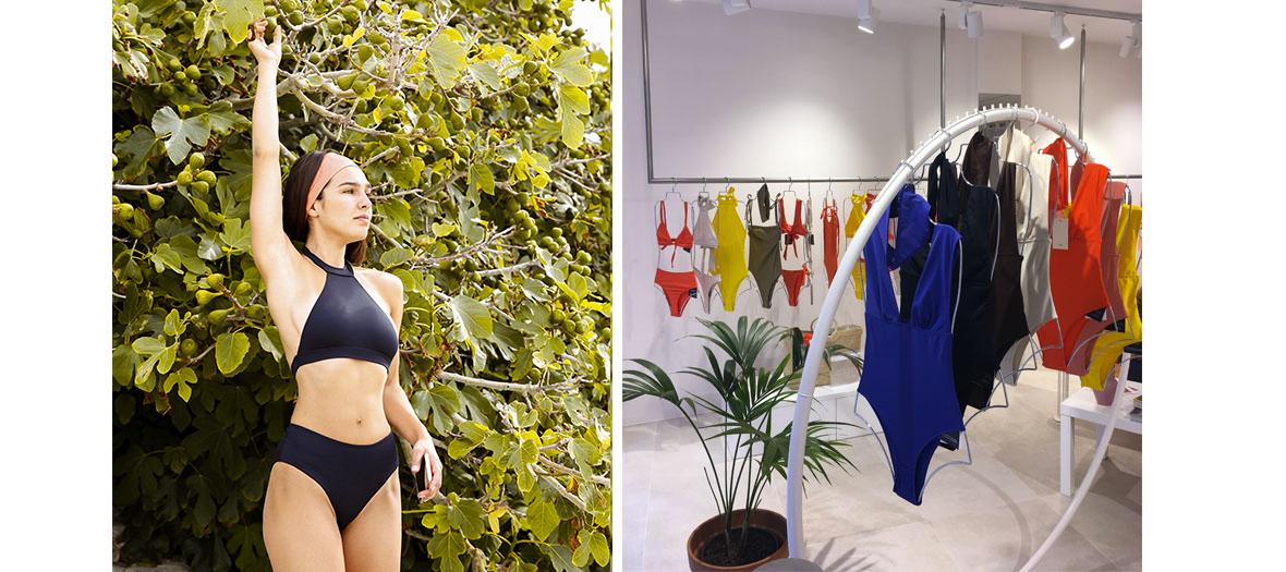 modèles de maillots de bain dignes du Saint-Tropez de Brigitte Bardot, de Romy Schneider dans La Piscine et autres James Bond Girls fatales sortant de l'eau.