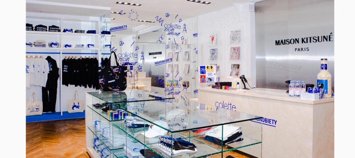 Decoration of the Souvenir Shop Colette mon amour at home Kitsuné