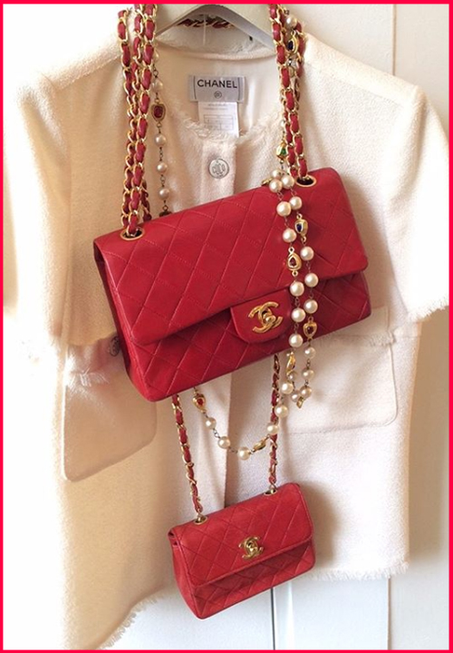 Sac Chanel minimini red bag rare à 1 200 €