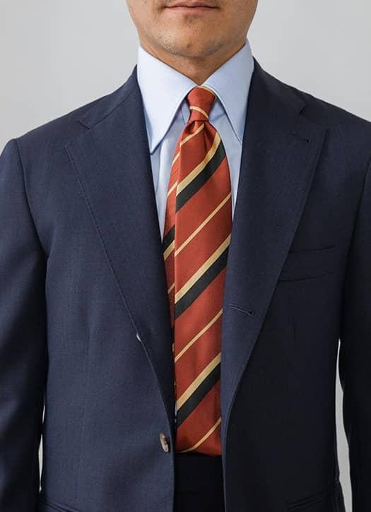 Cravate rayée en soie, Berg and Berg