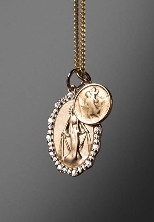 Mini Saints Necklace, Gold Vermeil/Sapphire, Miansai