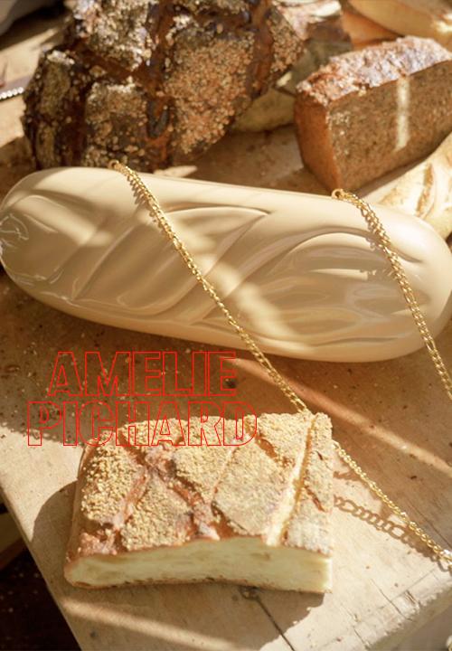 Sac à main en forme de baguette, Clutch en bois d'acacia laqué, Amélie Pichard