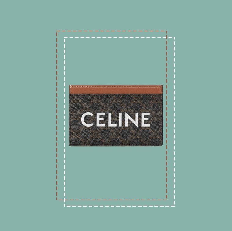 Porte-cartes en toile Triomphe enduite, Celine