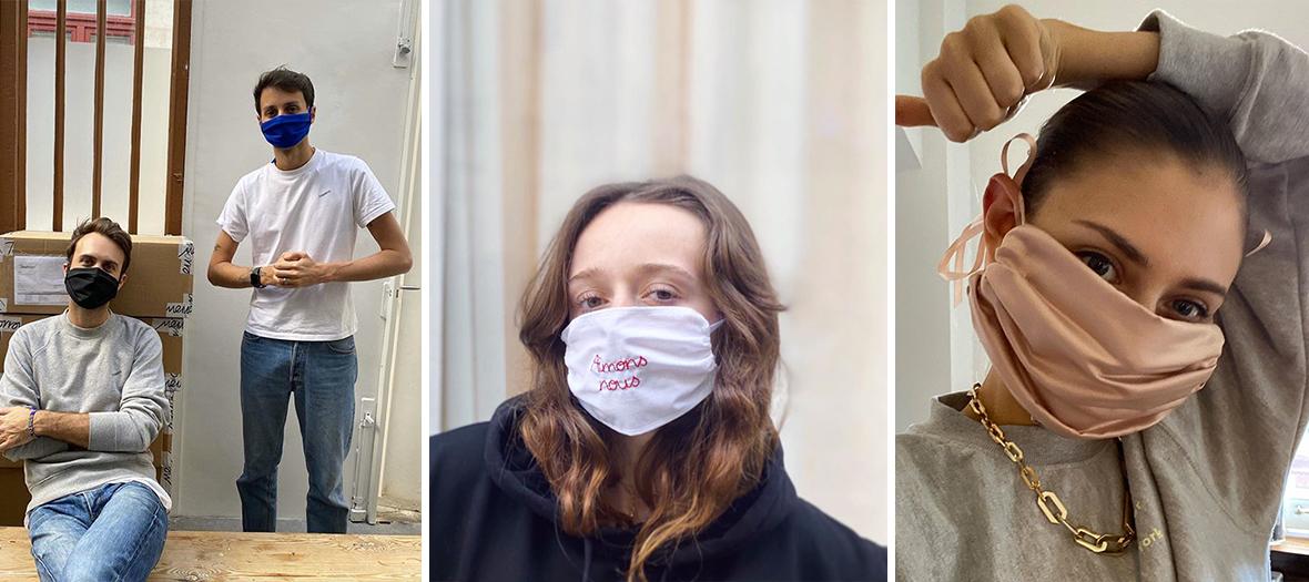 Choix de tissus pour faire un masques de protection contre le coronavirus avec Coperni, Henriette H, et Jenny Walton