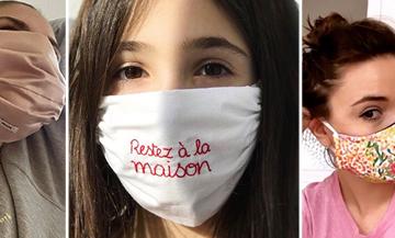 Tuto pour faire des masque de protection contre le Coronavirus avec makemylimonade, Henriette H, Jenny Walton et Coperni