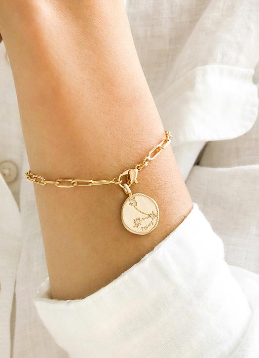 Bracelet médaille signe astrologique, Atelier de Famille