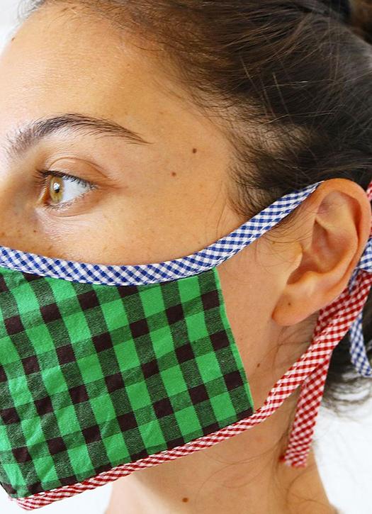 masque de protection coronavirus Bisous Masks de chez Clare V