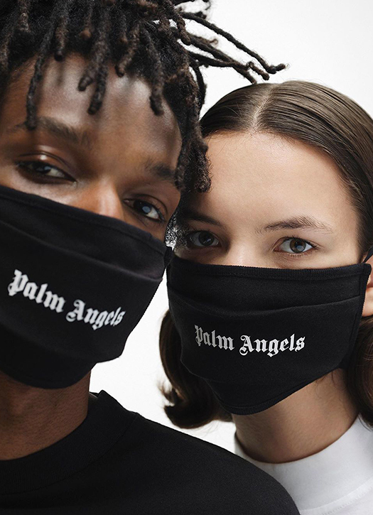 Masque de protection coronavirus street cred Palm Angels