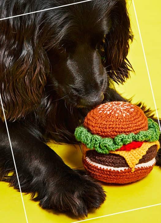 Jouet Burger en Crochet Fait Main & Fair Trade, Klep's,