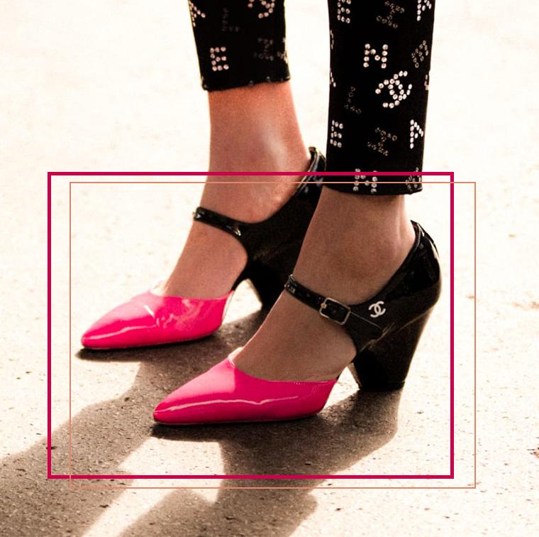 Escarpins en veau verni, Chanel