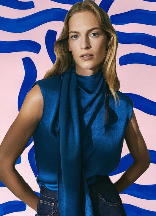 Chemise col foulard Limited Edition, Massimo Dutti