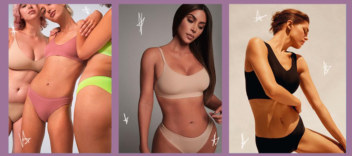 Lingerie compressant sans armatures et contours de Kim Kardashian, Chantelle et d'Oysho