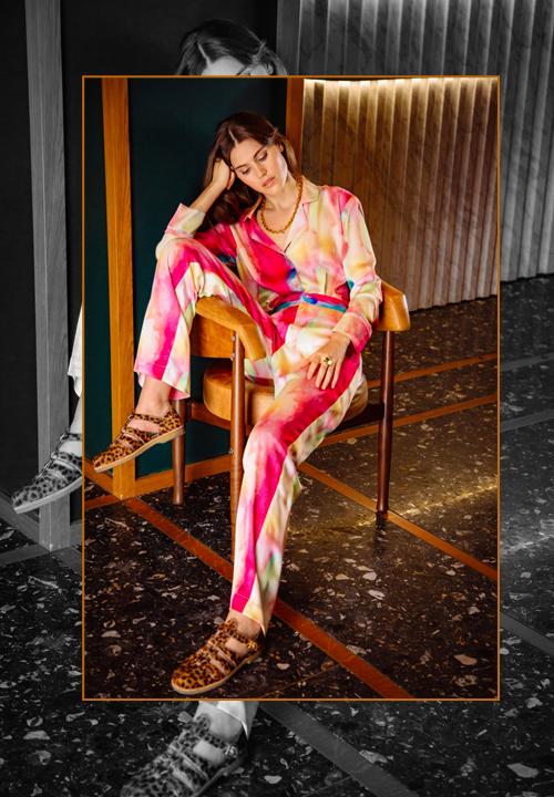 Pyjama Ulysse en imprimé rainbow, Heimstone