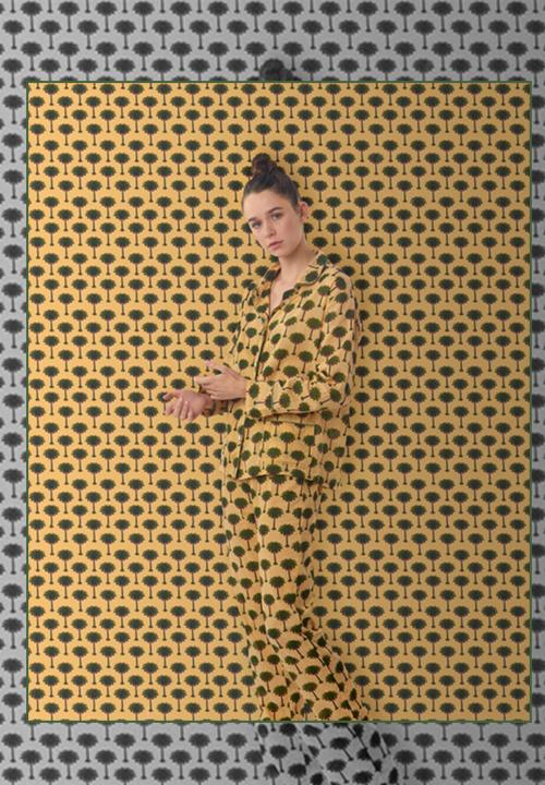 Pyjama imprimé palmier Holi Holi de Jeanne Deroo