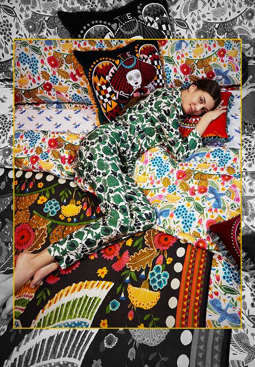 Pyjama en soie imprimé, La Double J