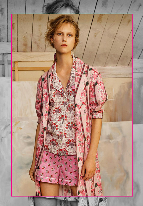 Pyjama en coton à imprimé floral et robe de chambre, Liberty London