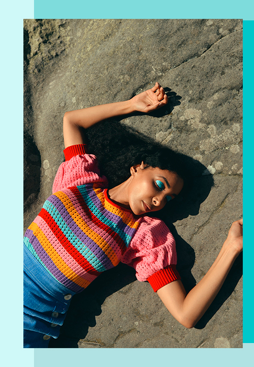 pull en laine coloré bien chauds du label Stella Pardo