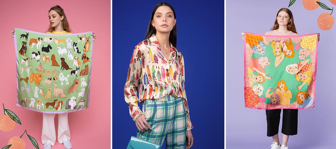 Foulard léopard, chemisier superstitieux, pyjama façon street style du Label Karen Mabon