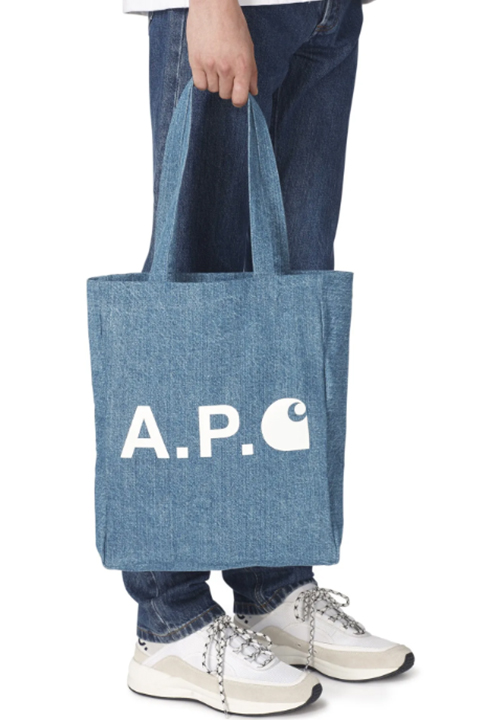 Tote bag en denim et Carhartt A.P.C