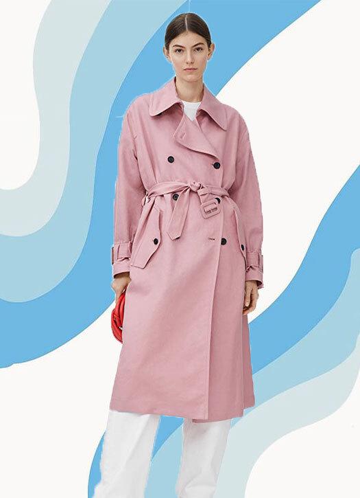 Linen Blend Trench Coat, Arket,