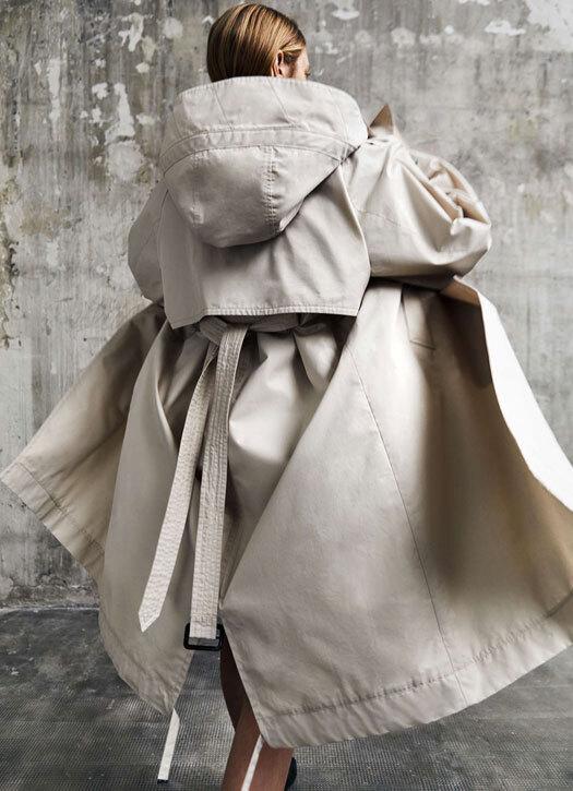 Trench-coat en gabardine de coton, Max Mara