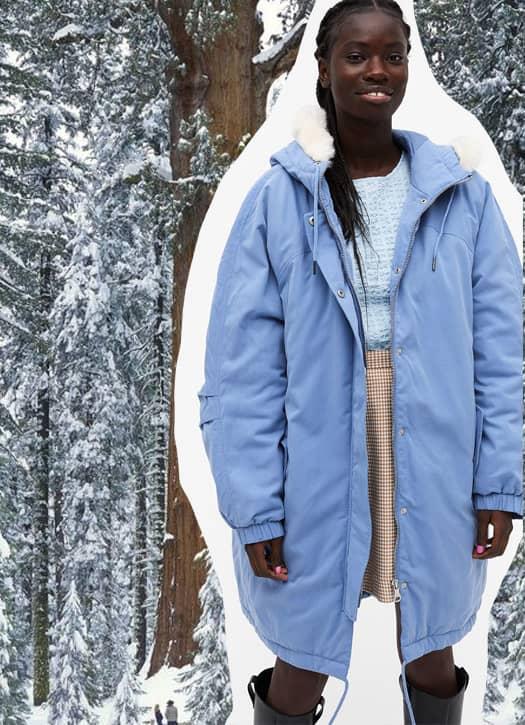 Parka Hooded parka coat Monki