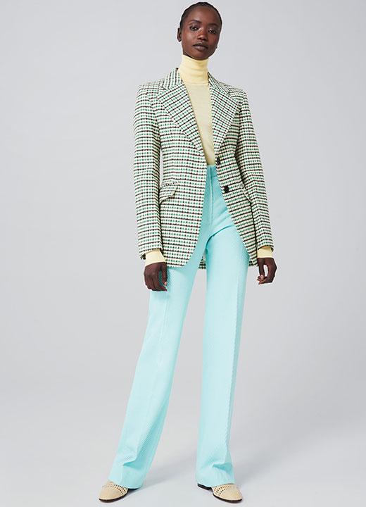 Pantalon Victoria Beckham dans un coton texturé au tombé parfait