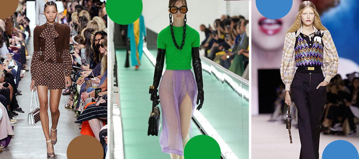 défilé de pulls aux manches courtes avec Louis Vuitton, Gucci, Lacoste ou Michael Kors
