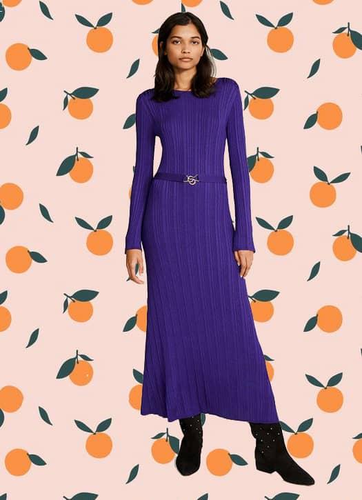 Robe longue violette, Claudie Pierlot