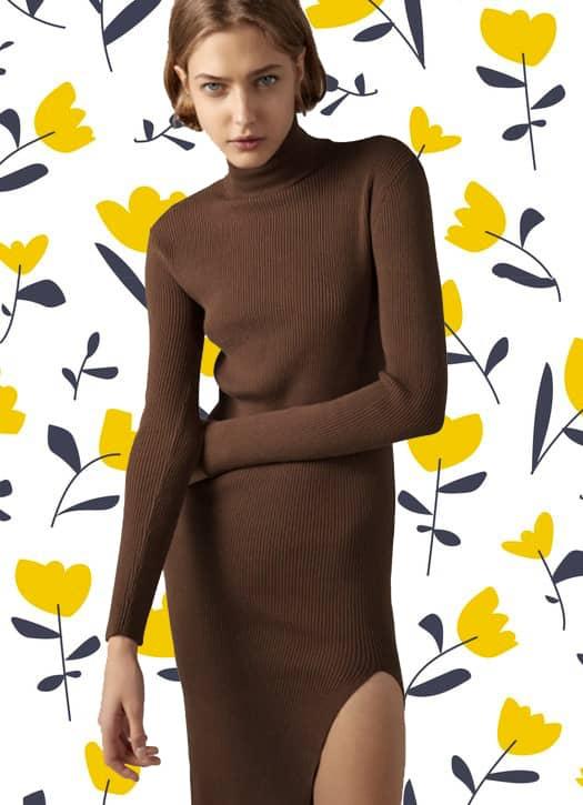 Robe longue en maille, Zara