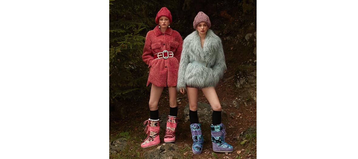 Moonboots, doudoune en ski Prada, après-ski Dior, bonnet Gucci en vente sur vinted