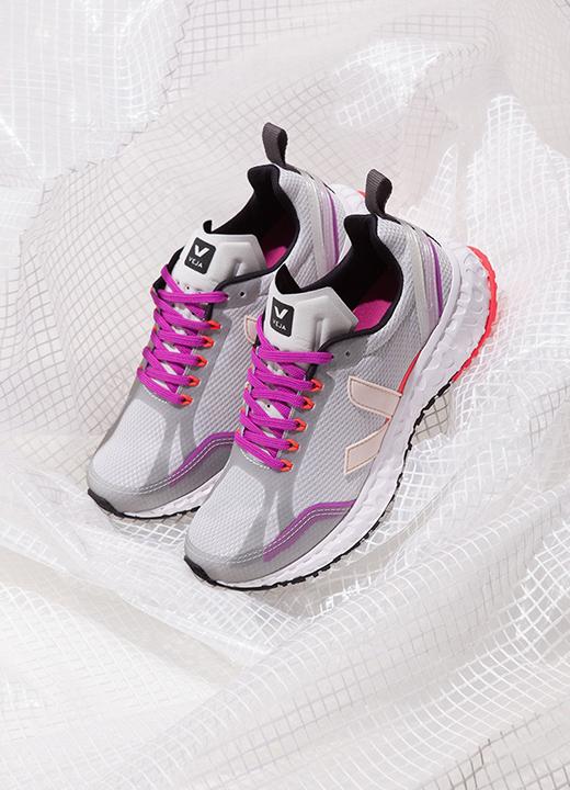 Sneakers Condor Mesh Light Grey Petale, Veja