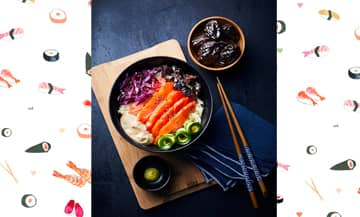 La recette simple du  sashimi bowl inspirée des coffee shops nippo-californien.