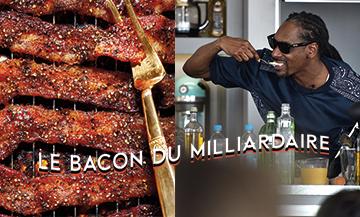 Recette de Bacon avec de la cassonade, piment rouge broyé, tranches épaisses de bacon et poivre noir