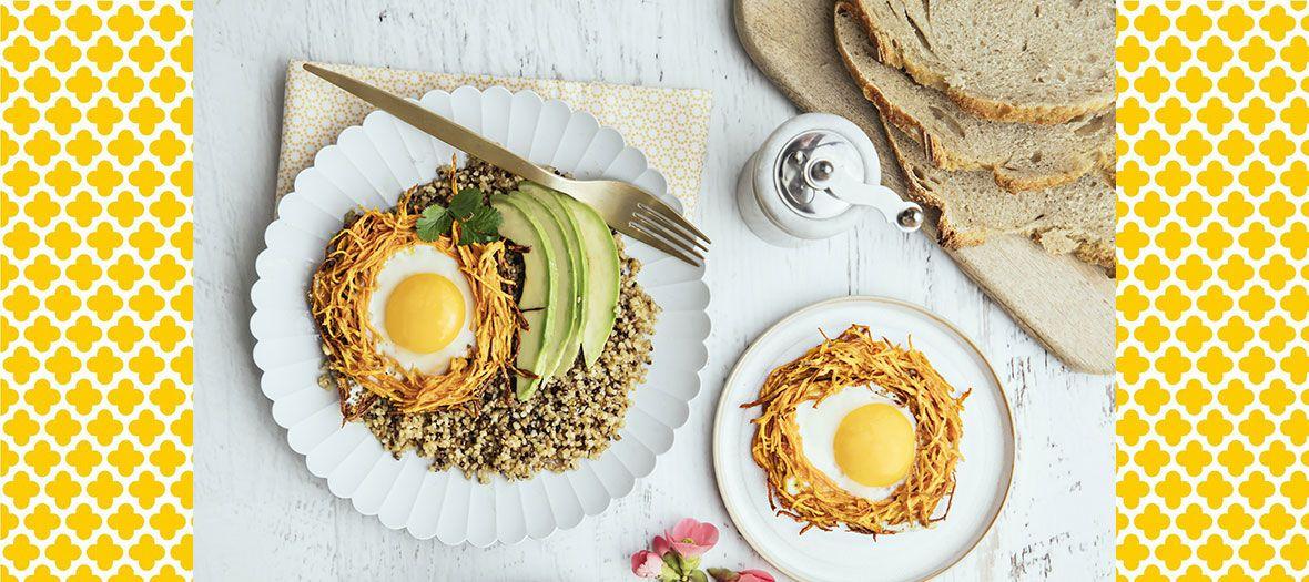 Comment faire un nid d'œuf en utilisant le côté foodporn et sucré des papatates douces ?