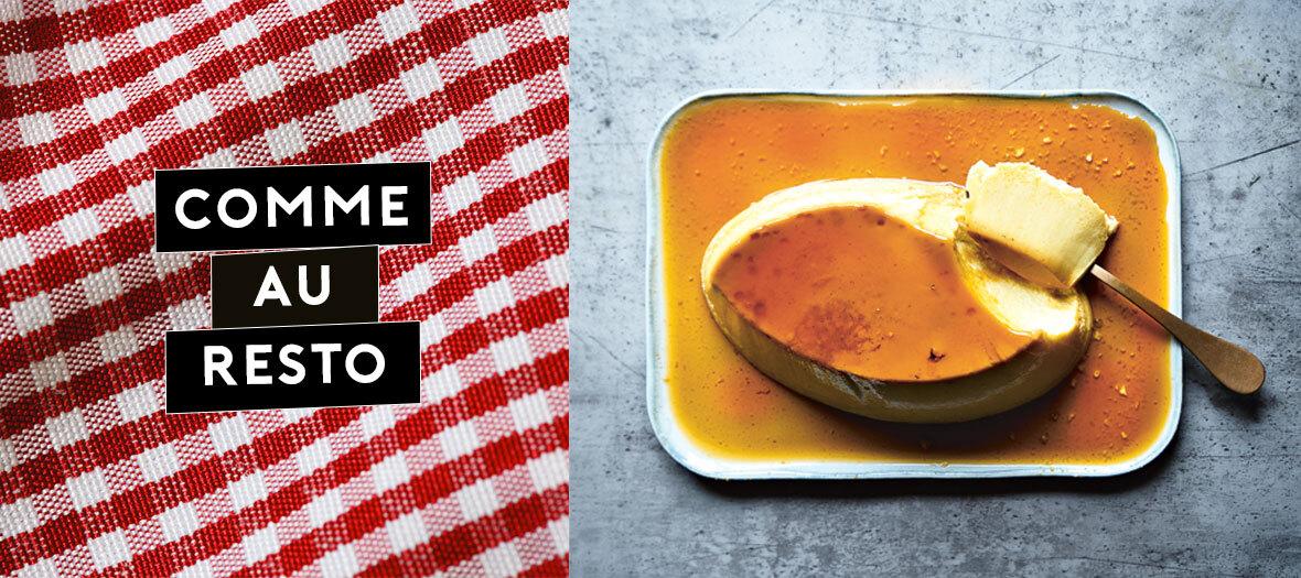 Recette de dessert Creme Caramel de la chef Stéphanie Le Quellec